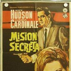 Cine: GW14 MISION SECRETA ROCK HUDSON CLAUDIA CARDINALE POSTER ORIGINAL 70X100 ESTRENO. Lote 12034988