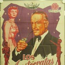 Cine: GX28 LOS ARISTOCRATAS PIERRE FRESNAY POSTER ORIGINAL 70X100 ESTRENO LITOGRAFIA. Lote 12067026