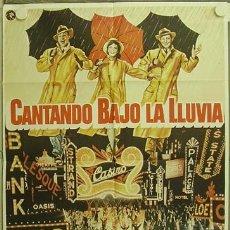 Cinema: GX67 CANTANDO BAJO LA LLUVIA GENE KELLY DEBBIE REYNOLDS POSTER ORIGINAL 70X100 ESPAÑOL. Lote 12068173
