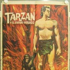 Cine: GX86 TARZAN Y EL SAFARI PERDIDO GORDON SCOTT ESCOBAR POSTER ORIGINAL 70X100 ESTRENO. Lote 12070458