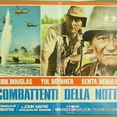 Cine: GY34 LA SOMBRA DE UN GIGANTE JOHN WAYNE KIRK DOUGLAS POSTER ORIGINAL ITALIANO 47X68. Lote 13787185