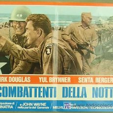 Cine: VF22D LA SOMBRA DE UN GIGANTE JOHN WAYNE KIRK DOUGLAS POSTER ORIGINAL ITALIANO 47X68. Lote 12089268