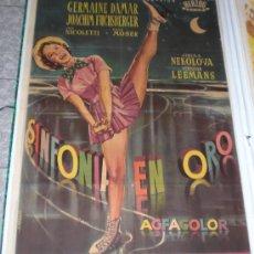 Cine: SINFONIA EN ORO - 1956 - FRANZ ANTEL - POSTER ORIGINAL - ESTRENO. Lote 23825077