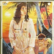 Cine: WE51D FRUTA SEXUAL DEL CARIBE JOE D'AMATO SIRPA LANE POSTER ORIGINAL 70X100 ESTRENO. Lote 12202819