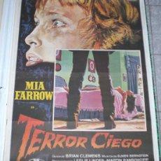 Cine: TERROR CIEGO - 1972 - DE RICHARD FLEISHER CON MIA FARROW - POSTER ORIGINAL - ESTRENO. Lote 14044642