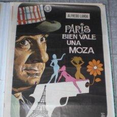 Cine: PARIS BIEN VALE UNA MOZA - 1972 - DE PEDRO LAZAGA CON ALFREDO LANDA - POSTER ORIGINAL - ESTRENO. Lote 14026124