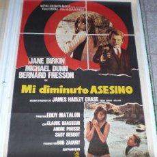 Cine: MI DIMINUTO ASESINO - 1970 - JANE BIRKIN - MICHAEL DUNN - BERNARD FRESSON - POSTER ORIGINAL ESTRENO. Lote 13199527