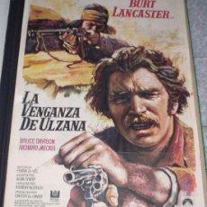 Cine: LA VENGANZA DE ULZANA - 1973 - DE ROBERT ALDRICH CON BURT LANCASTER - POSTER ORIGINAL - ESTRENO. Lote 12226080