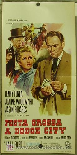 XG87D EL DESTINO TAMBIEN JUEGA HENRY FONDA JOANNE WOODWARD POSTER ORIGINAL ITALIANO 33X70 (Cine- Posters y Carteles - Drama)