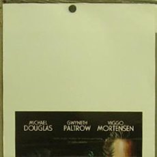 Cine: HD70 UN CRIMEN PERFECTO GWYNETH PALTROW MICHAEL DOUGLAS POSTER ORIGINAL ITALIANO 33X70. Lote 12265644