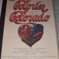 Cine: COLORIN COLORADO - 1976 - TERESA RABAL - JUAN DIEGO - FIORELLA FALTOYANO - ORIGINAL - ESTRENO. Lote 14057485