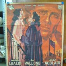 Cine: ANDREA CHENIER - ANTONELLA LUALDI, RAFF VALLONE - LITOGRAFIA - CARTEL ARGENTINO. Lote 27096048