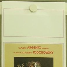 Cine: HE67 SANTA SANGRE ALEJANDRO JODOROWSKY POSTER ORIGINAL ITALIANO 33X70. Lote 253701445