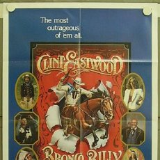 Cine: HF09 BRONCO BILLY CLINT EASTWOOD POSTER ORIGINAL AMERICANO 70X105. Lote 12289153