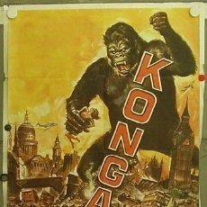 Cine: XD67D KONGA CIENCIA FICCION TERROR POSTER ORIGINAL ARGENTINO 75X110. Lote 12289430