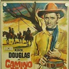 Cine: HF22 CAMINO DE LA HORCA KIRK DOUGLAS VIRGINIA MAYO RAOUL WALSH MAC POSTER ORIGINAL 70X100 ESTRENO. Lote 12292206