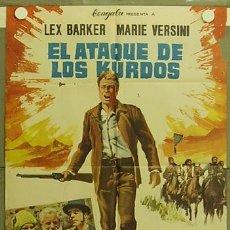 Cine: HF92 EL ATAQUE DE LOS KURDOS LEX BARKER KARL MAY POSTER ORIGINAL 70X100 ESTRENO. Lote 12307655