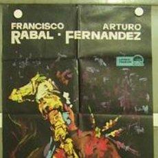 Cine: HF97 CURRITO DE LA CRUZ FRANCISCO RABAL TOROS MAC POSTER ORIGINAL 2 HOJAS 70X200 ESTRENO. Lote 22009843