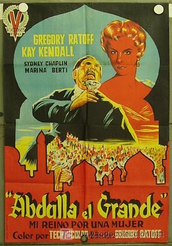 HF98 ABDULLA EL GRANDE GREGORY RATOFF KAY KENDALL POSTER ORIGINAL 70X100 ESTRENO LITOGRAFIA (Cine - Posters y Carteles - Aventura)