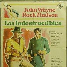 Cine: HG42 LOS INDESTRUCTIBLES JOHN WAYNE ROCK HUDSON POSTER ORIGINAL 70X100 ESTRENO. Lote 12348235