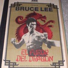 Cine: EL FUROR DEL DRAGON - 1975 - BRUCE LEE - POSTER ORIGINAL - ESTRENO. Lote 13230999