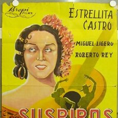 Cine: HG85 SUSPIROS DE ESPAÑA ESTRELLITA CASTRO BENITO PEROJO POSTER ORIGINAL 70X100 LITOGRAFIA. Lote 18253032