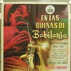 Cine: HG77 EN LAS RUINAS DE BABILONIA KARL MAY RAMON TORRADO MARA CRUZ CIFESA POSTER ORIG 70X100 ESTRENO. Lote 12351781