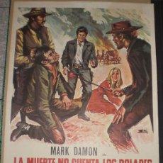 Cine: LA MUERTE NO CUENTA LOS DOLARES - 1972 - MARK DAMON - LUCIANA GILLI - POSTER ORIGINAL - ESTRENO. Lote 13305974