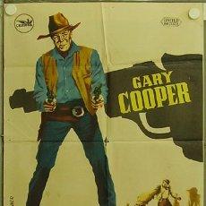 Cine: HH63 HOMBRE DEL OESTE GARY COOPER ANTHONY MANN POSTER ORIGINAL 70X100 ESTRENO. Lote 12366450