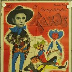 Cine: HH67 EL CONQUISTADOR DE TEXAS FERNAND RAYNAUD GUY LEFRANC POSTER ORIGINAL 70X100 ESTRENO. Lote 12366539