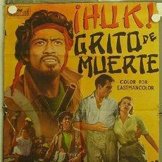 Cine: HH76 HUK GRITO DE MUERTE GEORGE MONTGOMERY MONA FREEMAN POSTER ORIGINAL 70X100 ESTRENO. Lote 12368000