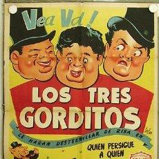 Cine: HH93 LOS TRES GORDITOS CINE ESPAÑOL POSTER ORIGINAL ESTRENO 70X100 LITOGRAFIA. Lote 12378007