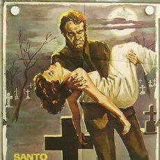 Cine: HH97 EL LADRON DE CADAVERES SANTO EL ENMASCARADO DE PLATA JANO POSTER ORIGINAL 70X100 ESTRENO. Lote 18617639
