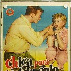 Cine: XH69D CHICA PARA MATRIMONIO JUDY HOLLIDAY GEORGE CUKOR POSTER ORIGINAL 70X100 ESTRENO. Lote 12378454