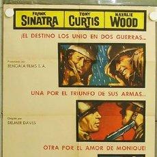 Cine: HI03 CENIZAS BAJO EL SOL NATALIE WOOD FRANK SINATRA TONY CURTIS POSTER ORIGINAL ESTRENO 70X100. Lote 12378564