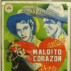 Cine: HI12 MALDITO CORAZON ANA BERTHA LEPE MANUEL CAPETILLO POSTER ORIGINAL ESTRENO 70X100 LITOGRAFIA. Lote 12379315