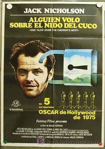 HI28 ALGUIEN VOLO SOBRE EL NIDO DEL CUCO JACK NICHOLSON MILOS FORMAN POSTER ORIGINAL 70X100 ESTRENO (Cine- Posters y Carteles - Drama)