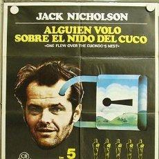Cine: HI28 ALGUIEN VOLO SOBRE EL NIDO DEL CUCO JACK NICHOLSON MILOS FORMAN POSTER ORIGINAL 70X100 ESTRENO. Lote 12380696