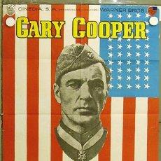 Cine: HI29 SARGENTO YORK GARY COOPER HOWARD HAWKS POSTER ORIGINAL 70X100 ESPAÑOL. Lote 12381731