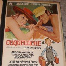 Cine: COQUELUCHE - 1970 - ANALIA GADE - JUAN LUIS GALIARDO - GRACITA MORALES - POSTER ORIGINAL - ESTRENO. Lote 14198962