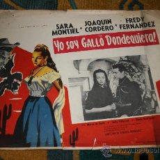 Cine: CARTEL ORIGINAL MEXICANO DE YO SOY GALLO DONDE QUIERA(JIMMY)SARA MONTIEL. Lote 12382179