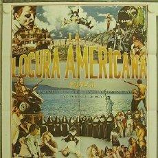 Cine: HI61 LA LOCURA AMERICANA II DOCUMENTAL TRASH POSTER ORIGINAL 70X100 ESTRENO. Lote 12383229