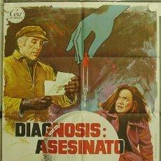 Cine: HI84 DIAGNOSIS ASESINATO CHRISTOPHER LEE POSTER ORIGINAL 70X100 ESTRENO. Lote 12395248