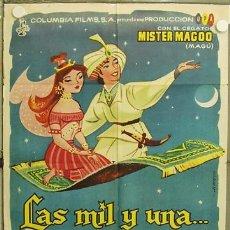 Cine: HJ34 LAS MIL Y UNA MISTER MAGOO ANIMACION POSTER ORIGINAL 70X100 ESTRENO. Lote 12399019