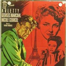Cine: HJ37 LOS PELIGROS DE PARIS ARLETTY GEORGES MARCHAL POSTER ORIGINAL 70X100 ESTRENO LITOGRAFIA. Lote 18347518