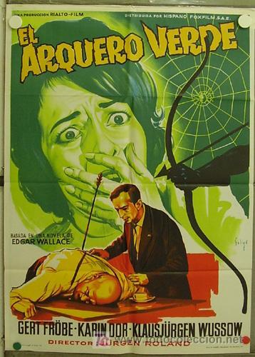 HJ30 EL ARQUERO VERDE EDGAR WALLACE POSTER DE SOLIGO ORIGINAL 70X100 ESTRENO LITOGRAFIA (Cine - Posters y Carteles - Terror)