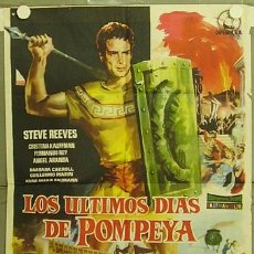 Cine: HJ60 LOS ULTIMOS DIAS DE POMPEYA STEVE REEVES SERGIO LEONE PEPLUM POSTER ORIGINAL 70X100 ESTRENO. Lote 12406787
