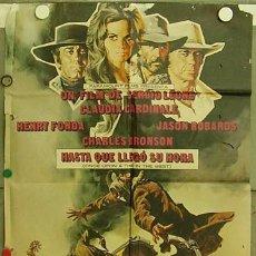 Cine: HJ69 HASTA QUE LLEGO SU HORA SERGIO LEONE POSTER ORIGINAL 70X100 ESTRENO. Lote 12409344