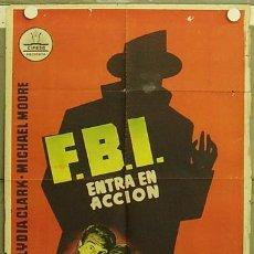 Cine: HK37 FBI ENTRA EN ACCION GENE BARRY POSTER ORIGINAL 70X100 ESTRENO. Lote 12451512