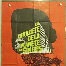 Cine: HK72 LA REBELION DE LOS SIMIOS CONQUEST OF THE PLANET OF THE APES POSTER ORIGINAL FRANCES 120X160. Lote 12454395